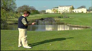 Golf Tip - Shot To Elevated Green - Druids Glen Golf Club, Ireland - Unravel Travel Tv