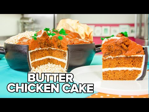 Butter Chicken CAKE!! | Pumpkin Spice & Caramel | How To Cake It
