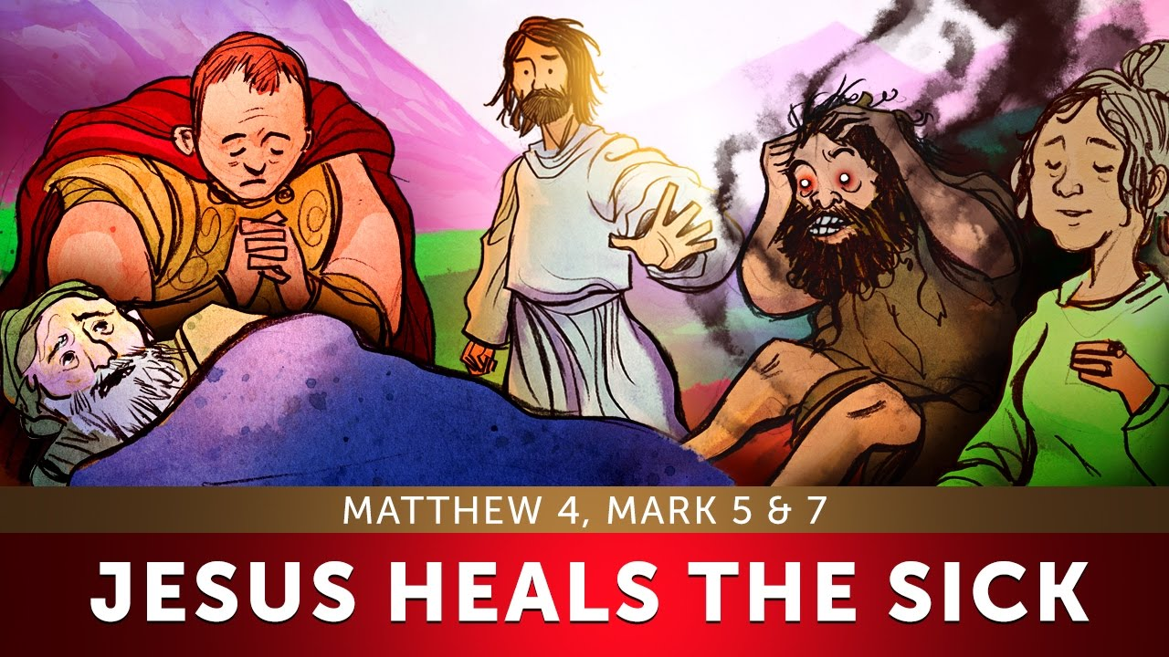 sunday lesson for kids jesus heals the sick matthew 4