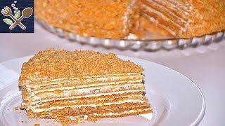 🏡МЕДОВИК КЛАССИЧЕСКИЙ СО СЛИВОЧНО-СМЕТАННЫМ КРЕМОМ/Classic honey cake