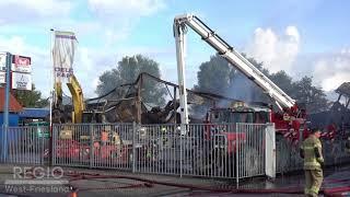 Niks meer over na grote brand bedrijfspand Grootebroek