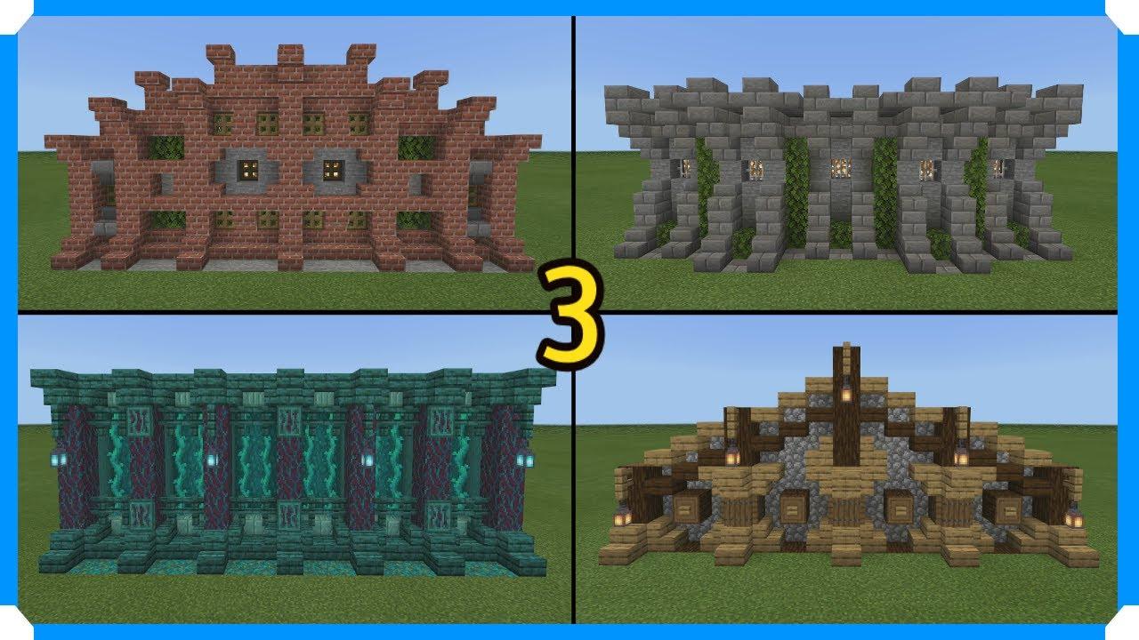 113 Minecraft Wall Designs In 1130 Seconds #13 Minecraft Map