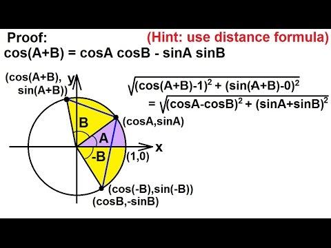 PreCalculus - Trigonometry: Trig Identities (10 of 57) Proof of Addition Formula (Cosine)