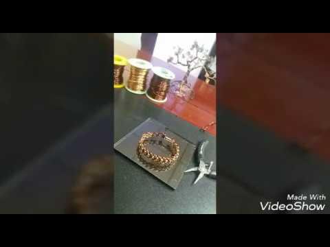 making bracelet on bronze wire DIY accessories