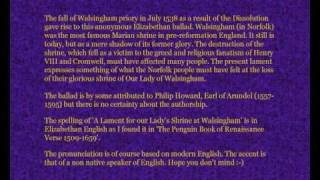 anon 16th century poem a lament for our lady s shrine at walsingham
