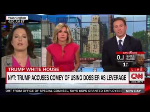 Trump accuses James Comey of using the Russian Dossier as leverage to keep his job