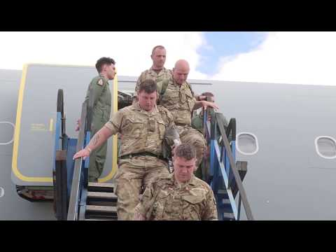 NOBLE JUMP 17 - UK Troops Airport Arrival at Alexandroupolis