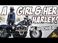 Girl's Motorcycle Experience Learning to Ride: Ms. Blockhead!