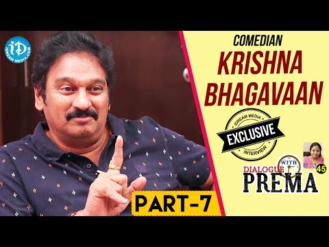 Comedian Krishna Bhagavaan Exclusive Interview Part #7 || Dialogue With Prema | Celebration Of Life