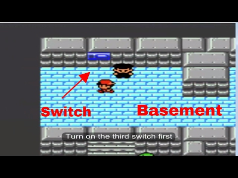 How To Turn The Switches In Goldenrod City Basement - Pokemon Gold