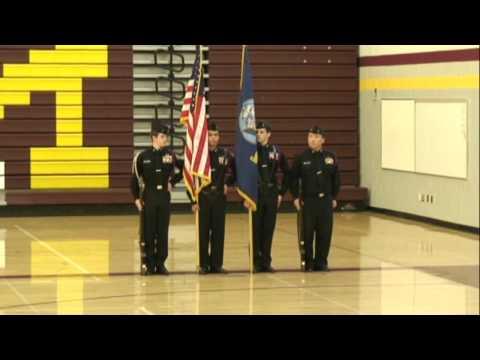 Curtis High School NJROTC: Color Guard in Regionals