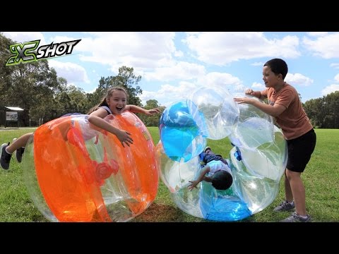 X-Shot GIANT Bubble Ball Kids Park Playtime Fun Run & Smash Roll & Crash With Ckn Toys