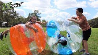 X Shot GIANT Bubble Ball Kids Park Playtime Fun Run & Smash Roll & Crash With Ckn Toys