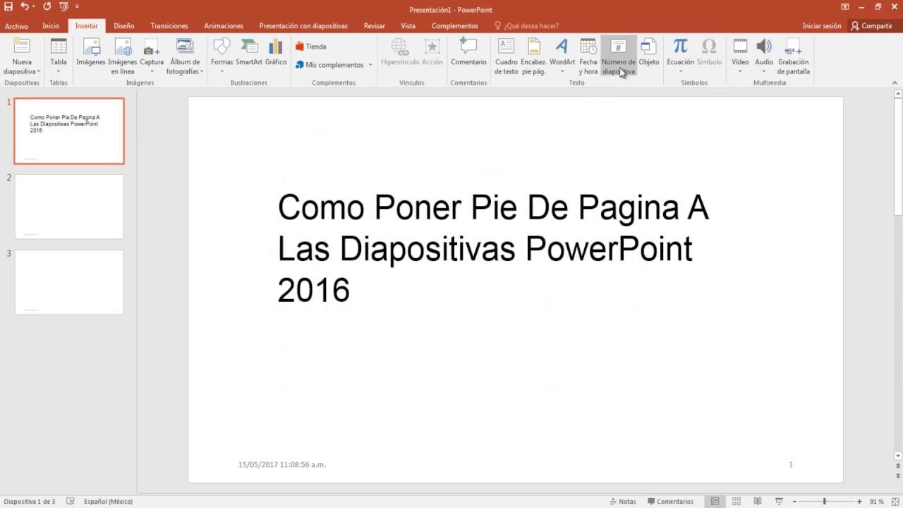 Página 5 De 6: Como Poner Pie De Pagina A Las Diapositivas PowerPoint