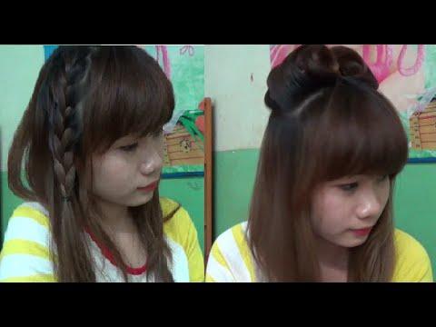 Hairstyles - 2 Kiểu Tóc Đơn Giản & Dễ Thương Để Đi Học Hoặc Đi Chơi ( Boram & Soyeon Nhóm T-ara )