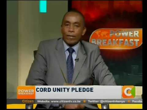 Power Breakfast News Review: CORD unity pledge