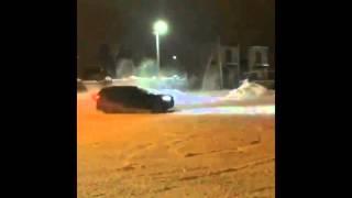 BMW X5M снежный дрифт drift занос