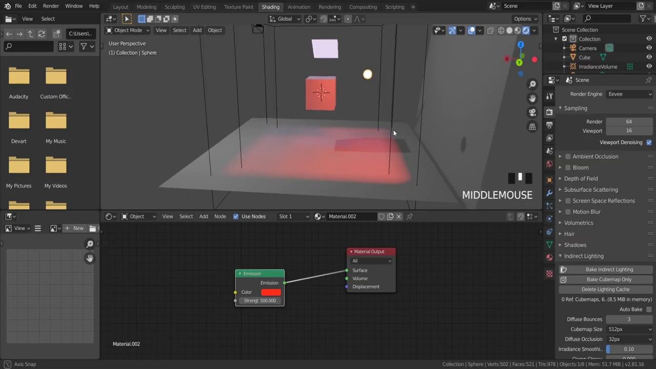 How To Make Object Emit Light In Eevee How To Make Object Glow In Blender Blender Light Probe Youtube