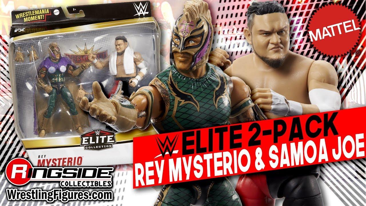 WWE Mattel Rey Mysterio vs Samoa Joe Exclusive Elite figures Deux-Pack
