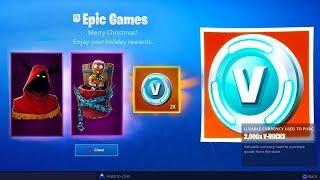 The FREE CHRISTMAS REWARDS in Fortnite! (Fortnite Battle Royale SECRET FREE ITEMS)