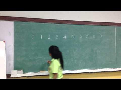 การเขียนตัวเลขฮินดูอารบิกและเลขไทย