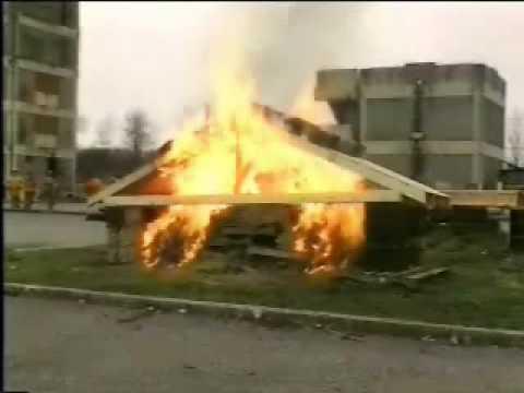 Wood Truss Test Burn Youtube