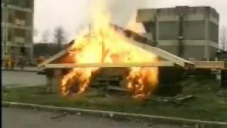 Wood Truss Test Burn