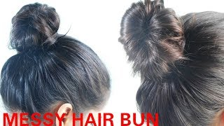 How to: MESSY BUN 💜 Easy & Perfect | Tutorials Compilation ||TipsToTop By Shalini