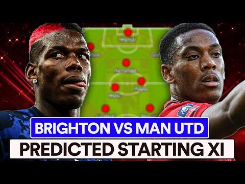 BRIGHTON VS MAN UTD | PREDICTED XI | POGBA SHOW