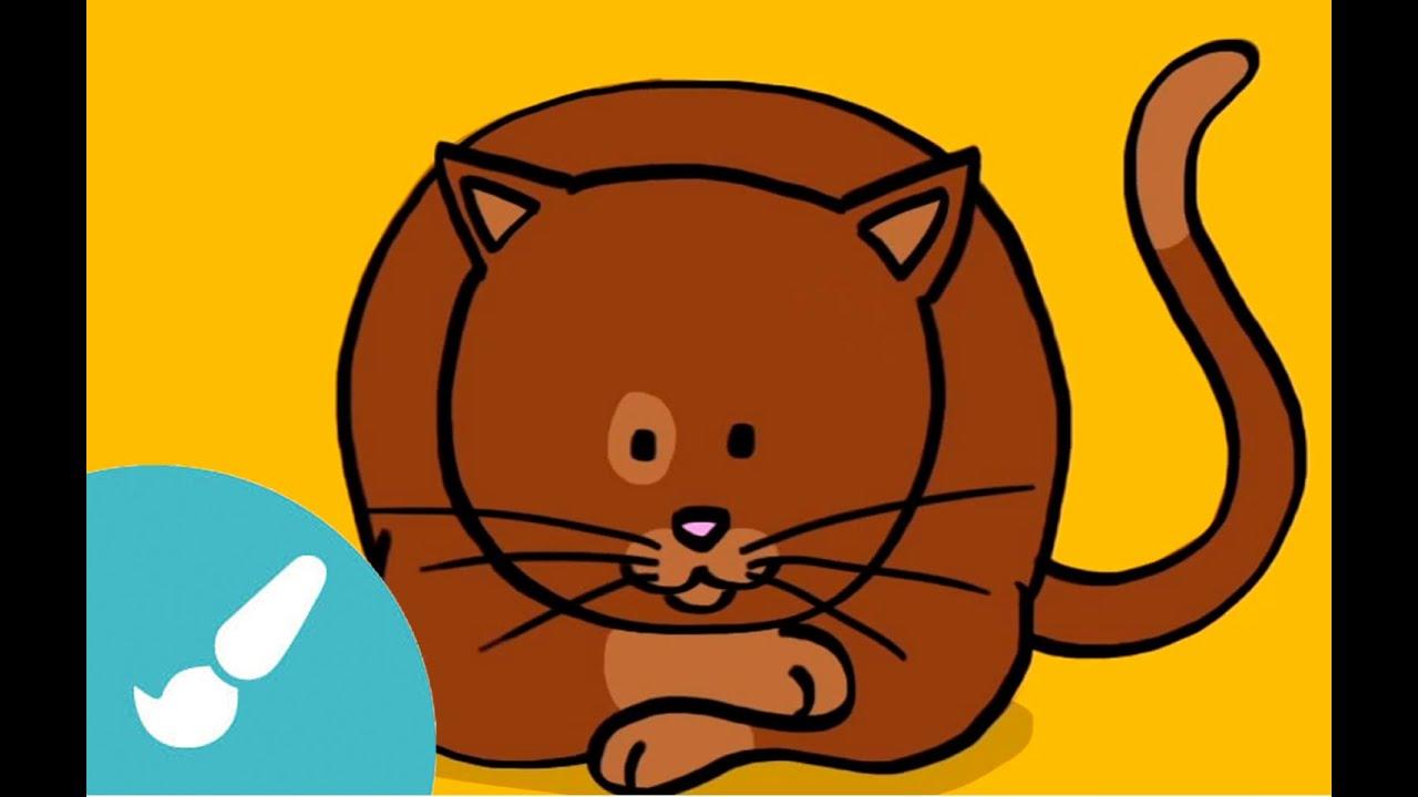 Cmo dibujar un gato Dibujos para nios  YouTube
