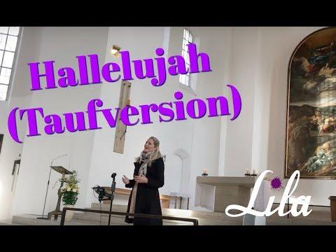 Lila singt Hallelujah (Taufversion deutsch) live auf einer Taufe