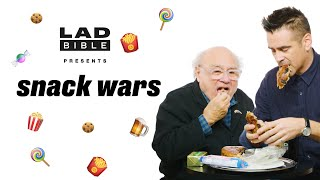 Dumbo's Danny DeVito & Colin Farrell Play Snack Wars - USA v Ireland