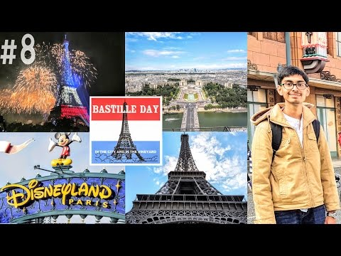 #8. India To Europe Trip - Day 3 | Bastille Day Celebration + Paris City Tour + Disneyland | France