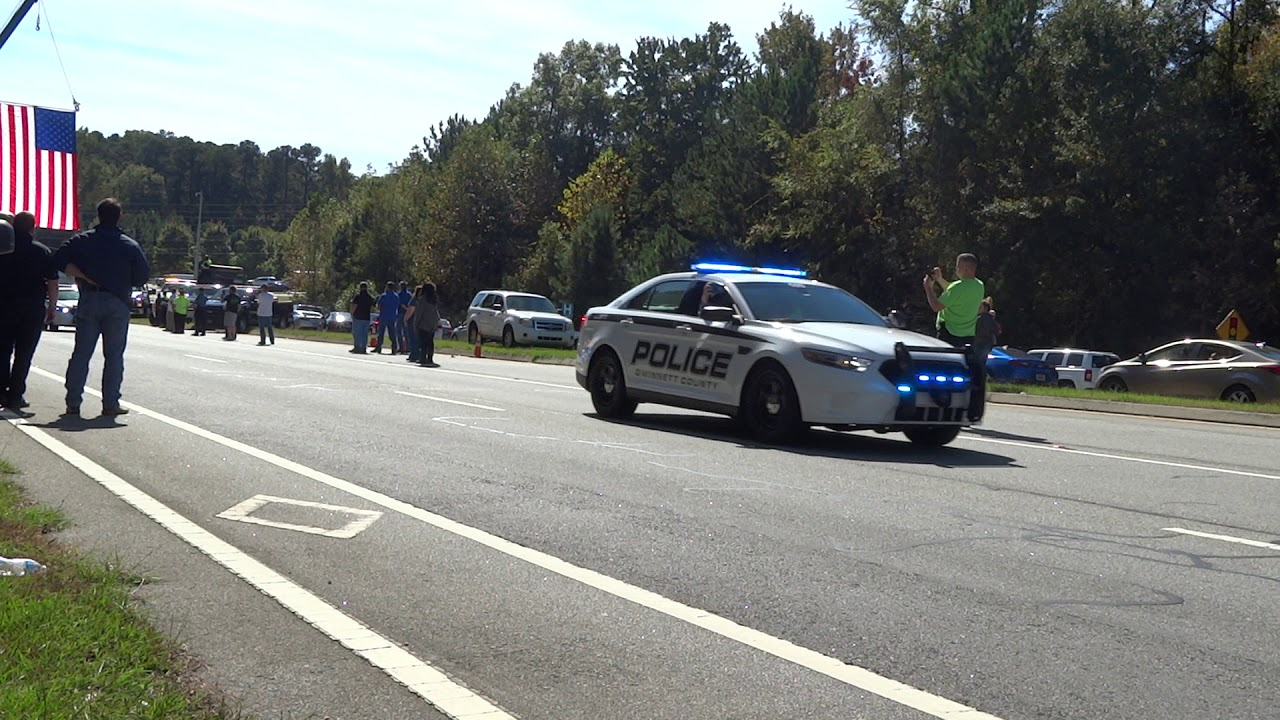 Funeral Procession for Gwinnett County Police Officer Antwan Toney (Badge  1808) - YouTube
