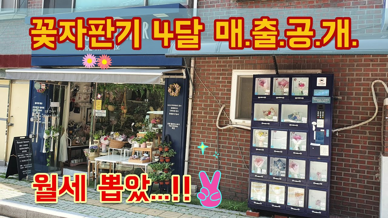꽃자판기 4달 운영 매.출.공.개 / 꽃 자판기 Q&A