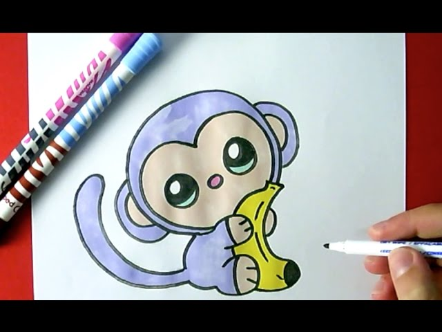 How To Draw A Cute Monkey Youtube