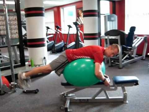 Stability Ball Reverse Hyper Extension Youtube