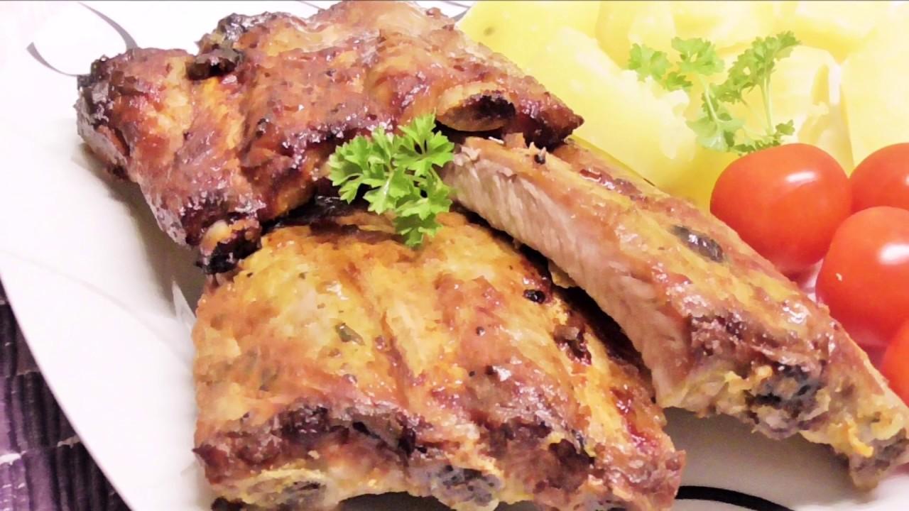 Żeberka w musztardzie /Kasia ze slaska gotuje