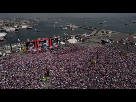Thousands Mass At Pro-Palestinian Rally Called By Erdogan