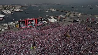 Thousands mass at pro Palestinian rally called by Erdogan
