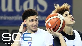 LaMelo and LiAngelo Ball get a 'B' for their professional basketball debut in Lithuania | SC6 | ESPN
