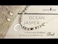 Ocean Jasper Scratch Pendant Necklace Earring Kit Design Time