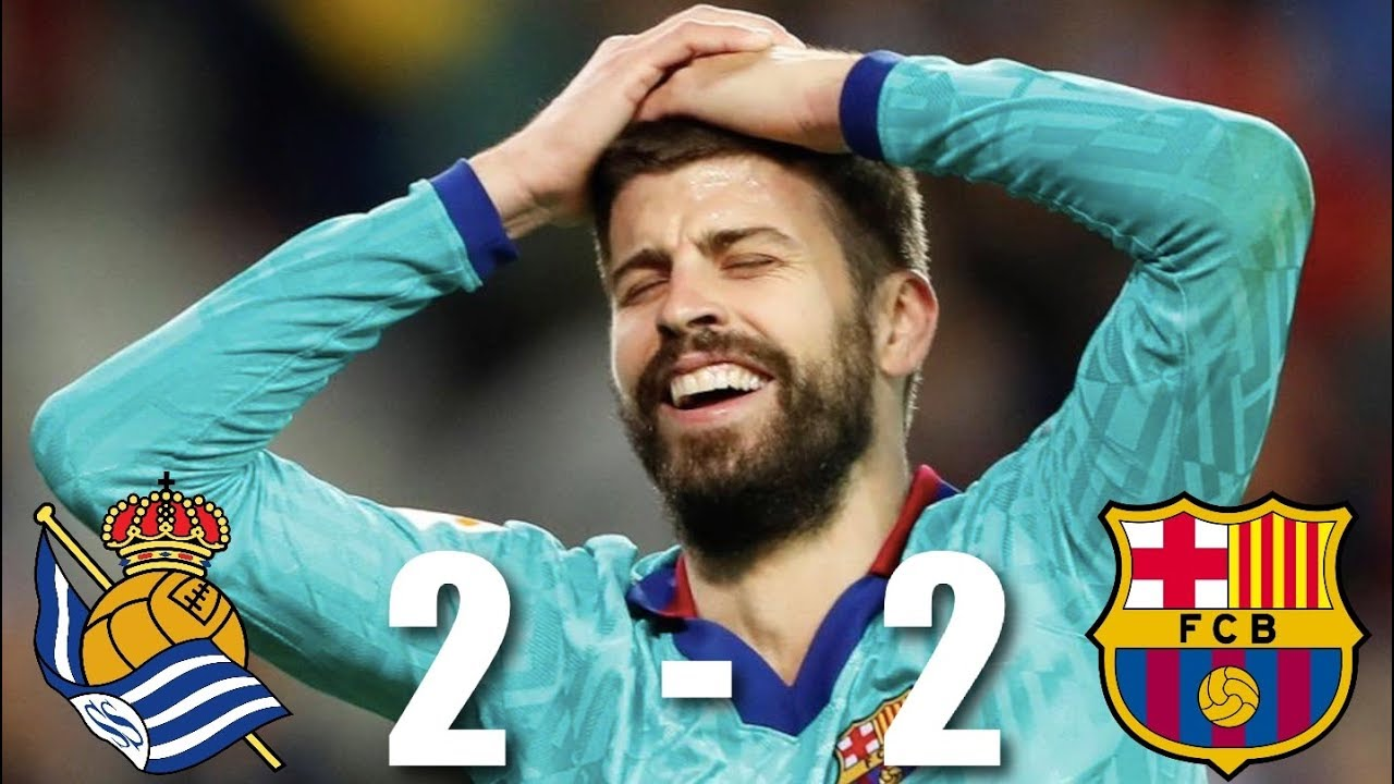 Real Sociedad Vs Barcelona 2 2 La Liga 2019 20 Match Review Youtube