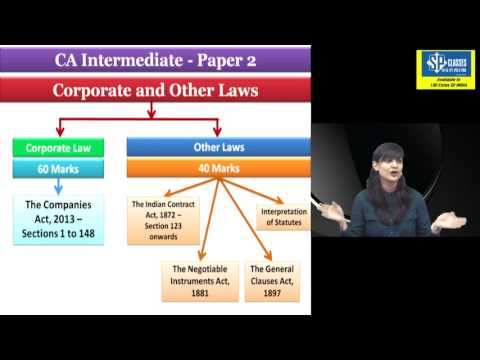 CA INTERMEDIATE CORPORATE LAW LECTURE 1 APPLICABLE FOR MAY18
