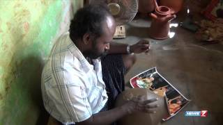 Sivagangai Potter carves famous Carnatic musicians on
