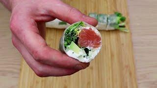 Как приготовить роллы в домашних условиях.  Приготовление суши