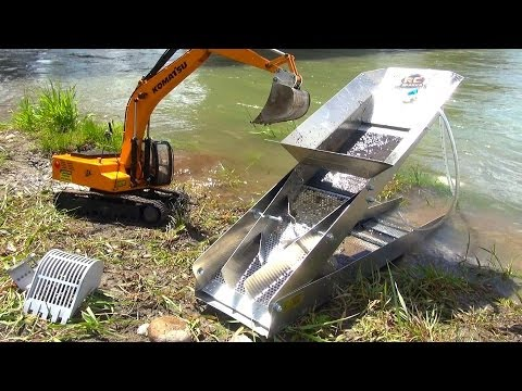 RC ADVENTURES - GOLD Dredge & Sluice Plant with an Earth Digger 4200XL Excavator