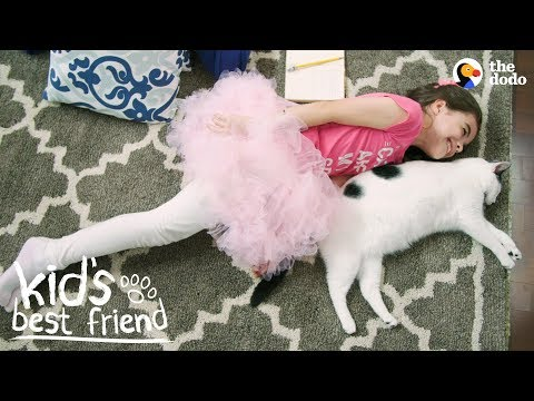 Cat Teaches Her Human Sister What Love's All About  | The Dodo Kid's Best Friend