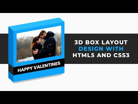 3D Box layout design with HTML5 and CSS3 | CSS3 For Beginners