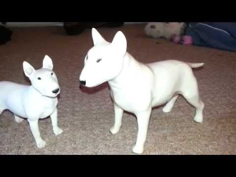 cooper craft white english bull terrier retro made in england statue figurine